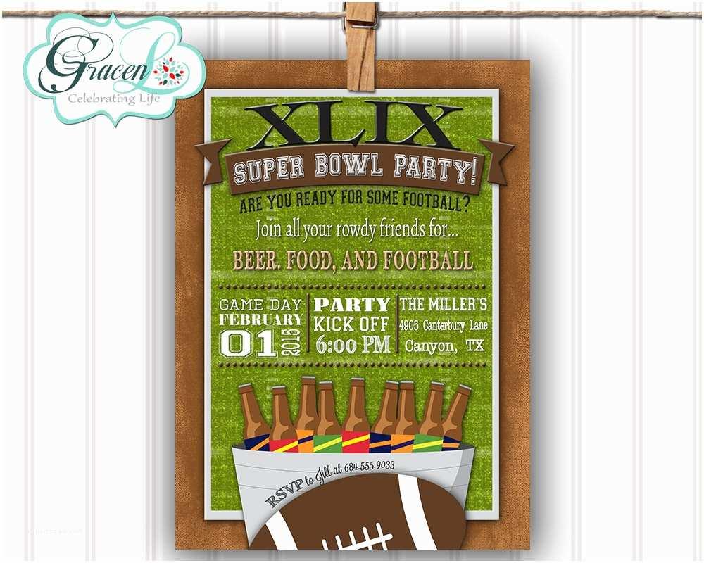 Super Bowl Party Invitations Chandeliers & Pendant Lights