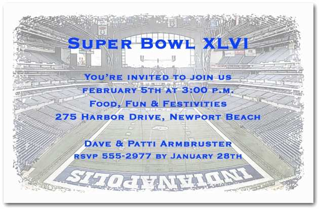 Super Bowl Party Invitations Fun Superbowl Party Invitation Ideas – Aa Gifts & Baskets