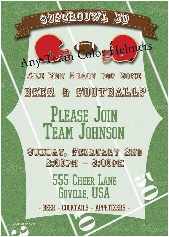 Super Bowl Party Invitations Super Bowl 50 Printable Football Party Invitations