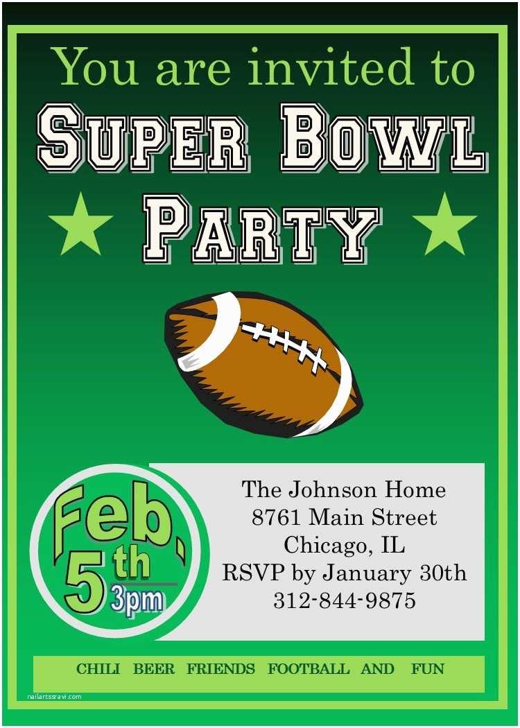 Super Bowl Party Invitations Super Bowl Party Invitations 2018 Football