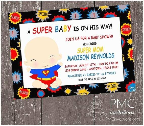 Superhero Baby Shower Invitations Free Printable Superhero Invitations Baby Shower