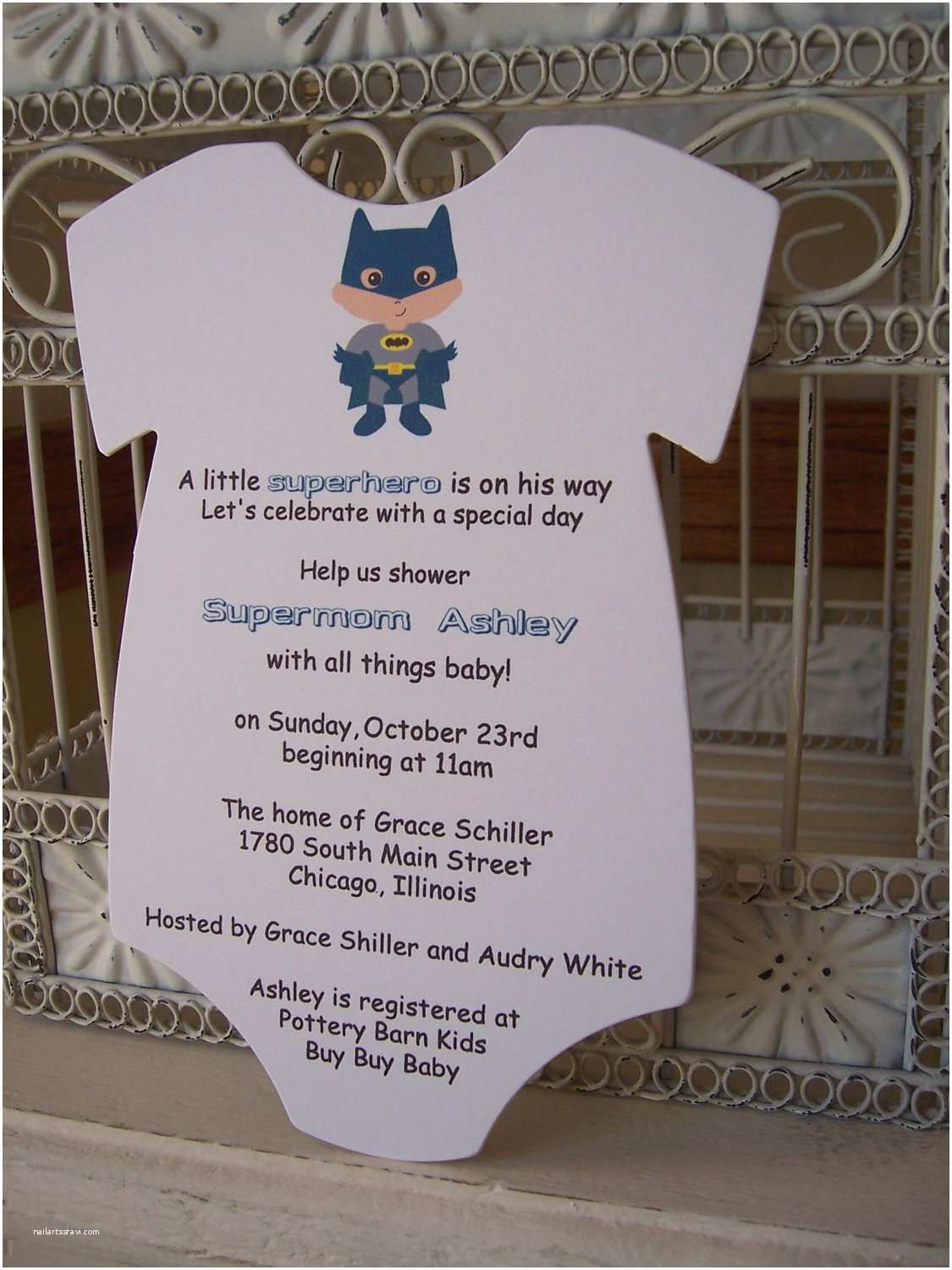Superhero Baby Shower Invitations Superhero Baby Shower Invitation Custom Die Cut