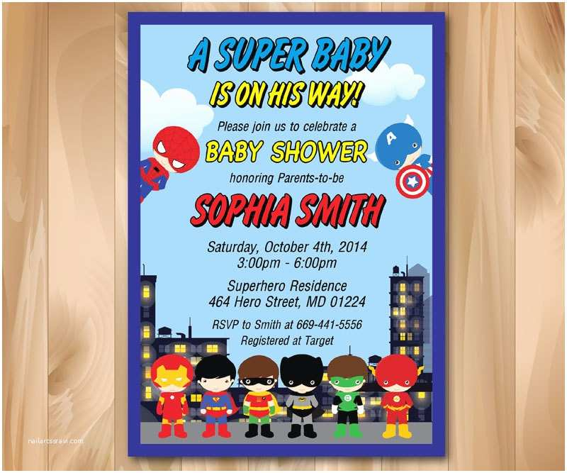 Superhero Baby Shower Invitations Superhero Baby Shower Invitation Super Hero Baby Shower