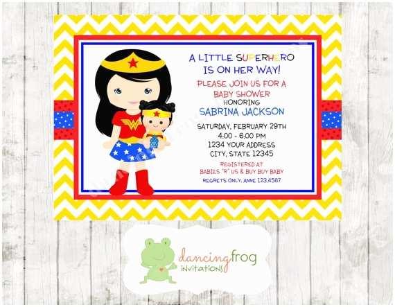 Superhero Baby Shower Invitations Superhero Girl Baby Shower Invitation by Dancingfroginvites