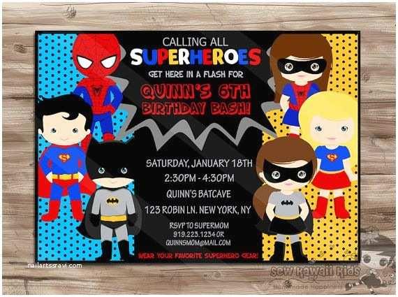 Superhero Birthday Invitations Best 25 Superhero Invitations Ideas On Pinterest