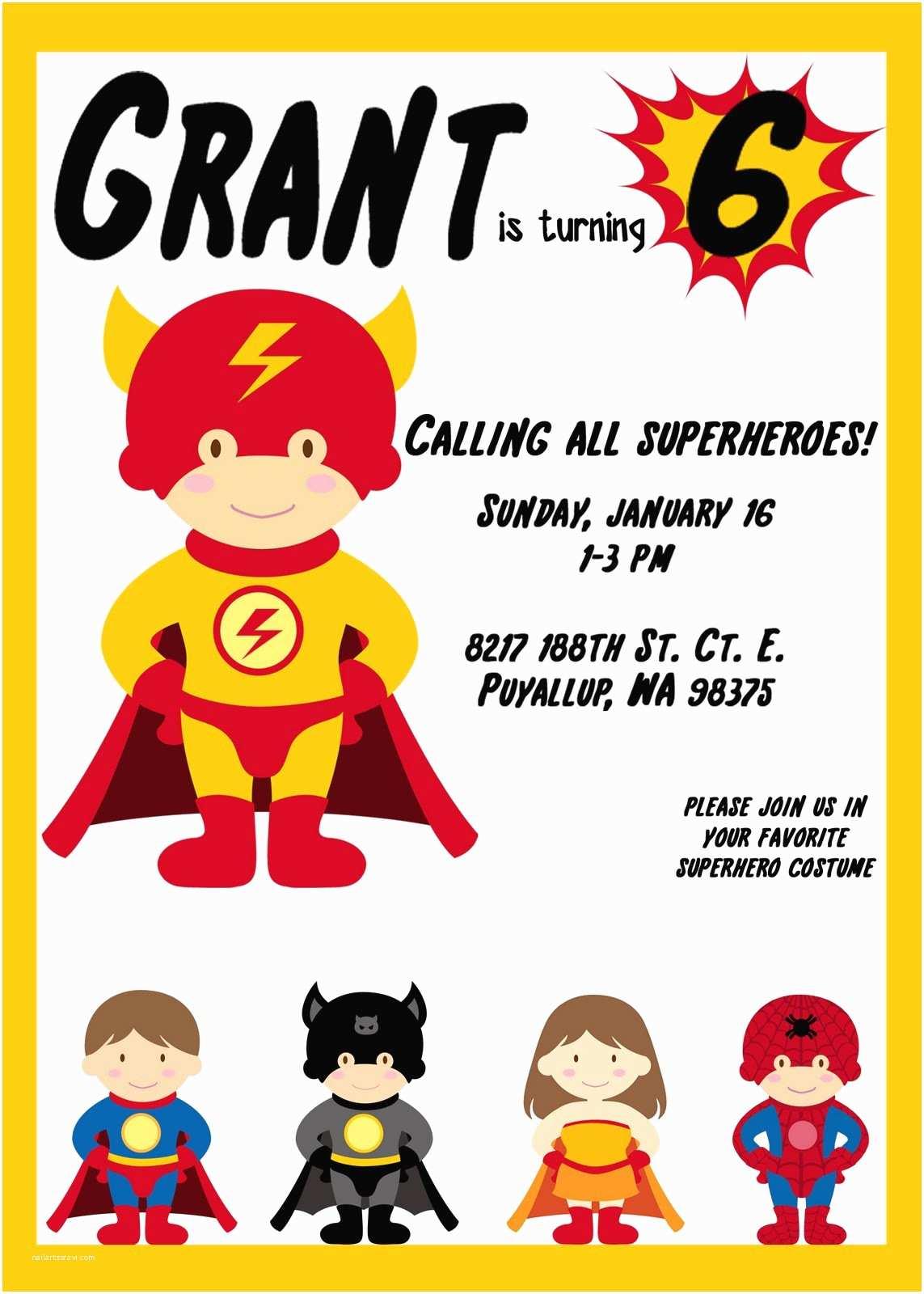 Superhero Birthday Invitations Elegant Affairs Superhero Birthday Party