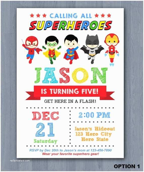 Superhero Birthday Invitations Superhero Birthday Invitation Superhero Invitation