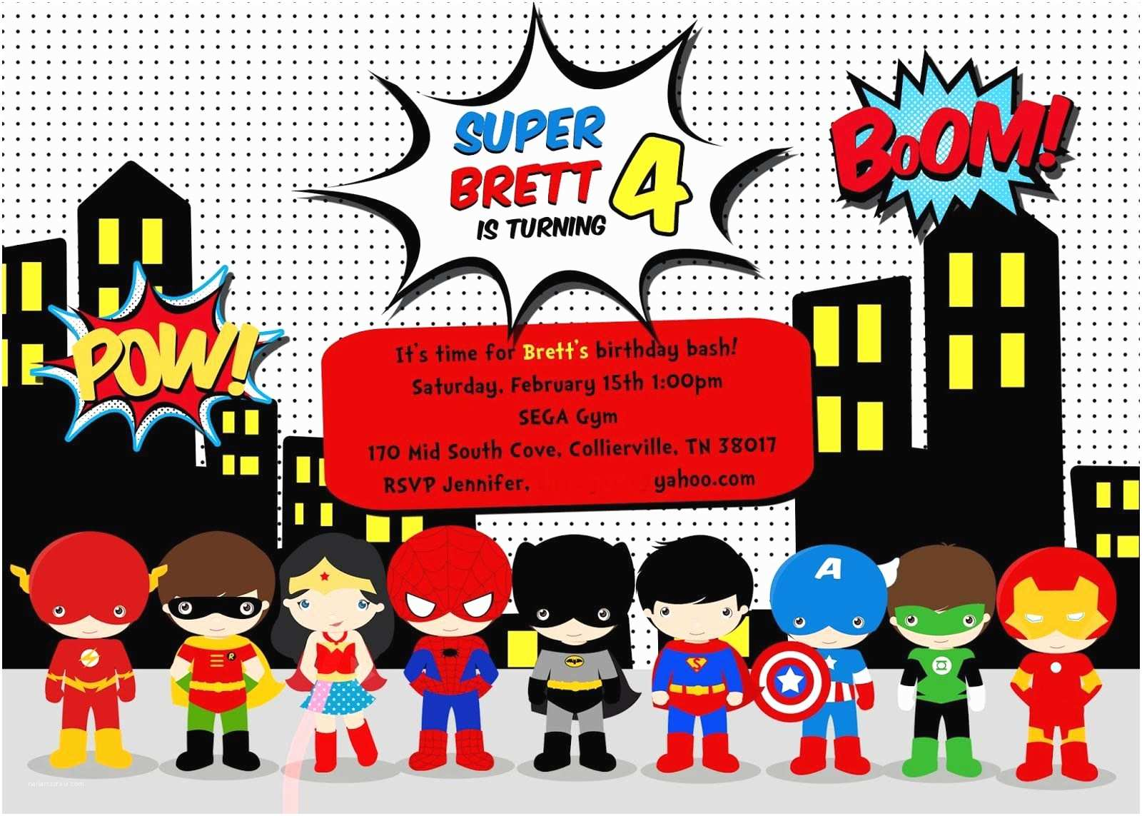 Superhero Birthday Party Invitations Free Superhero Birthday Party Invitation Templates