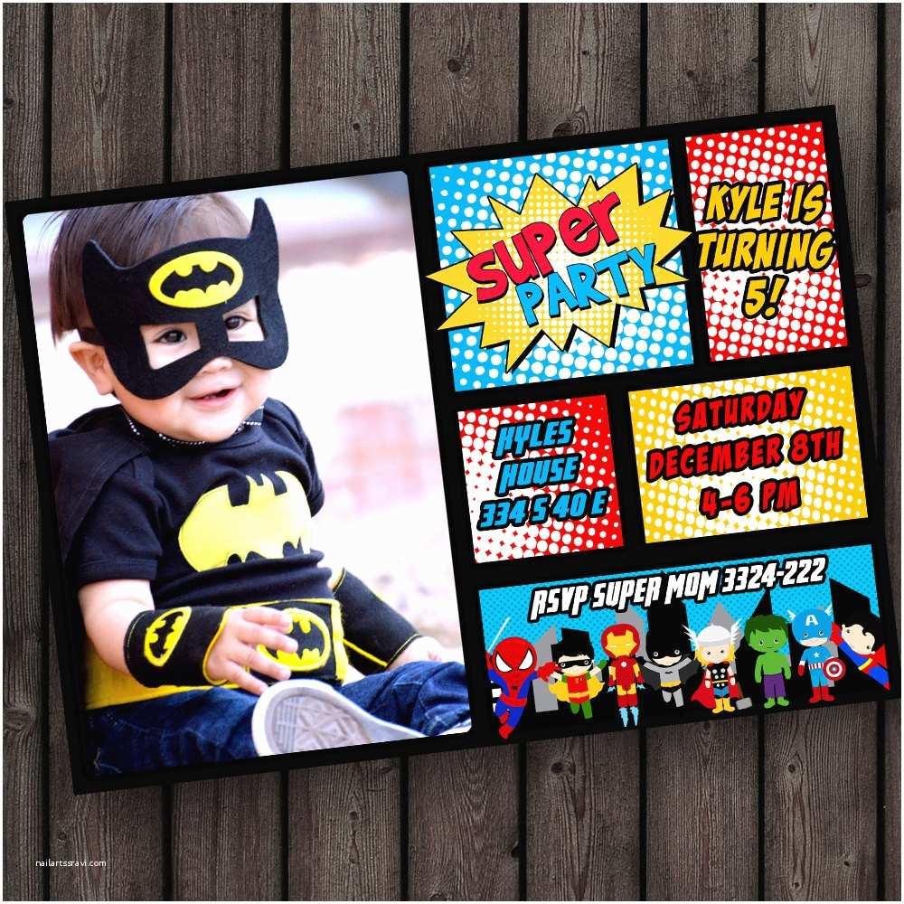 Superhero Birthday Party Invitations Superhero Birthday Invitation Super Hero Party Invitation