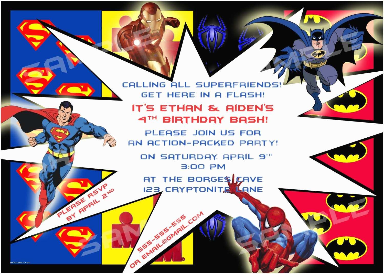 superhero birthday party invitations template