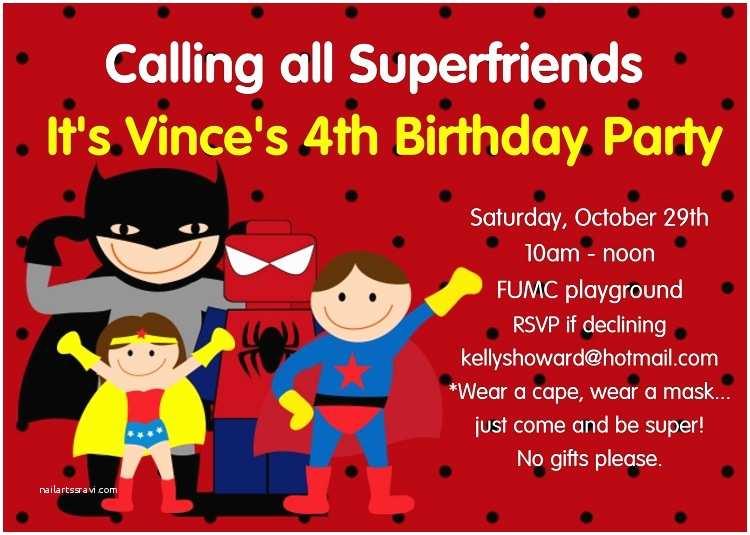 Superhero Party Invitations 8 Best Of Superhero Birthday Invitations Printable