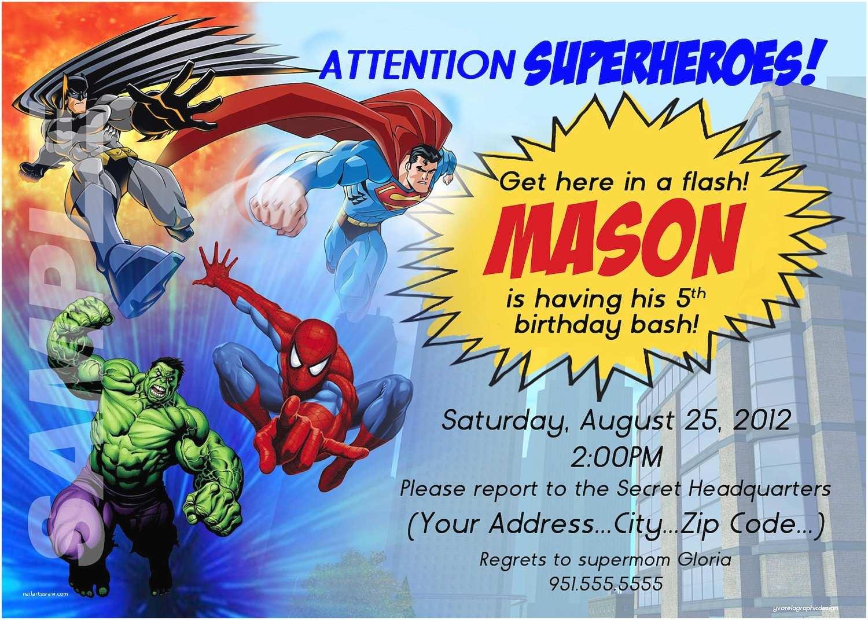 Superhero Party Invitations Superhero Birthday Party Invitations Card