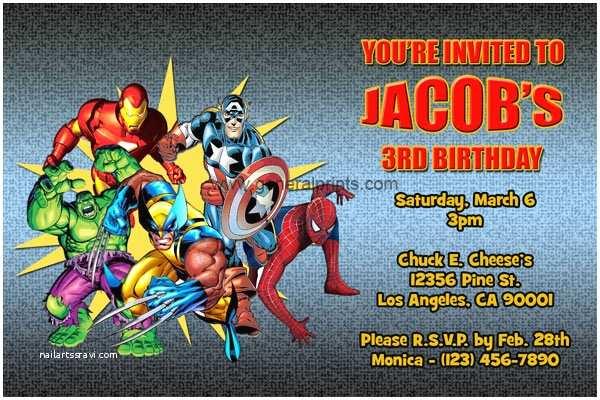 Superhero Party Invitations Superheroes Birthday Party Invitation Ideas