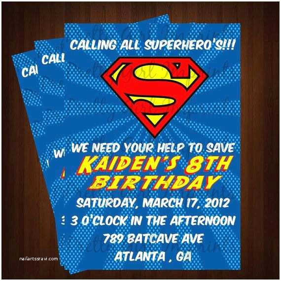 Superhero Wedding Invitations Best 25 Superman Invitations Ideas On Pinterest