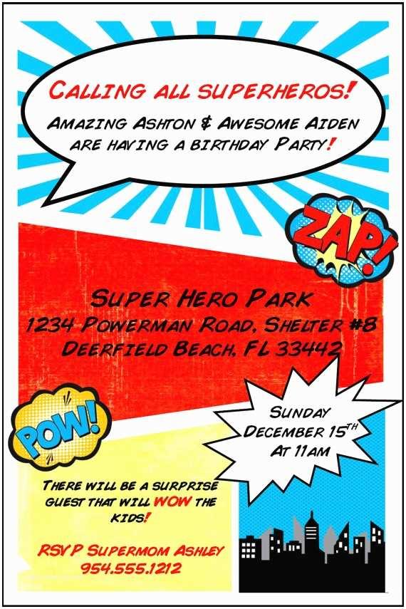 Superhero Wedding Invitations Items Similar to Superhero Birthday Invitation Template On