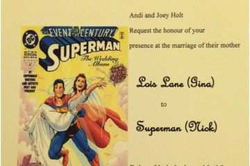 Superhero Wedding Invitations My Non Traditional Blended