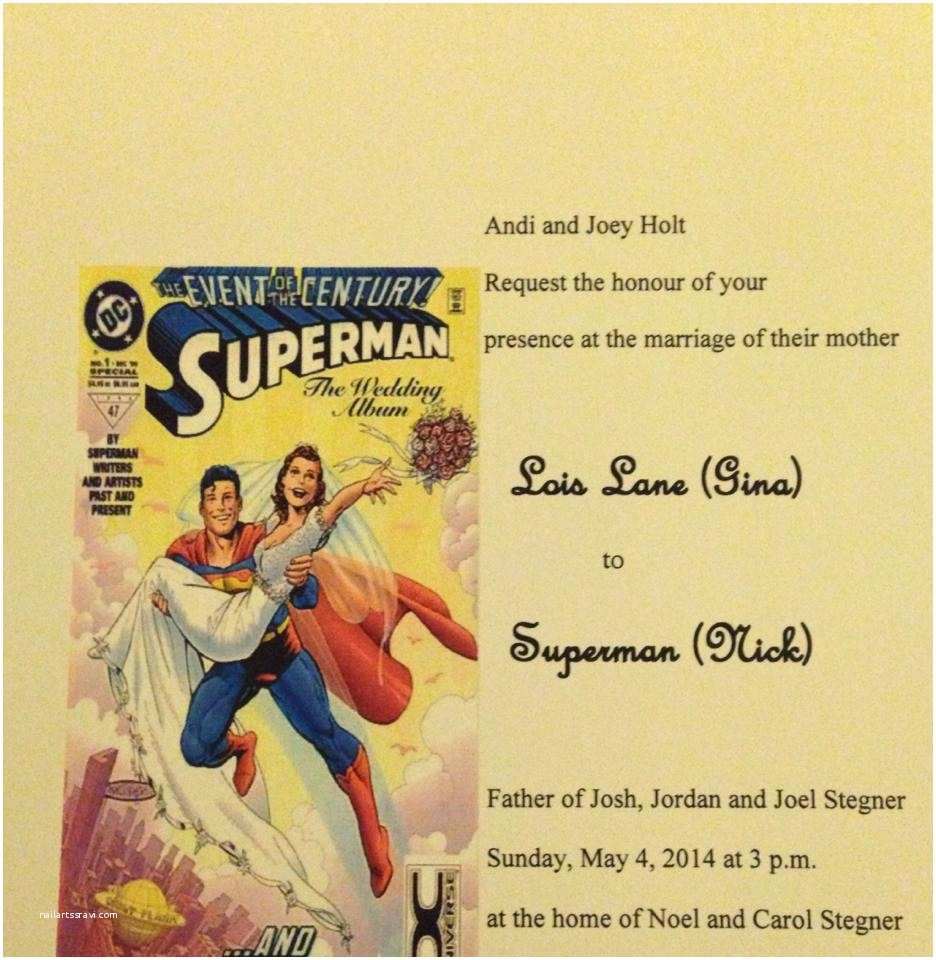 Superhero Wedding Invitations My Non Traditional Superhero Blended Family Wedding