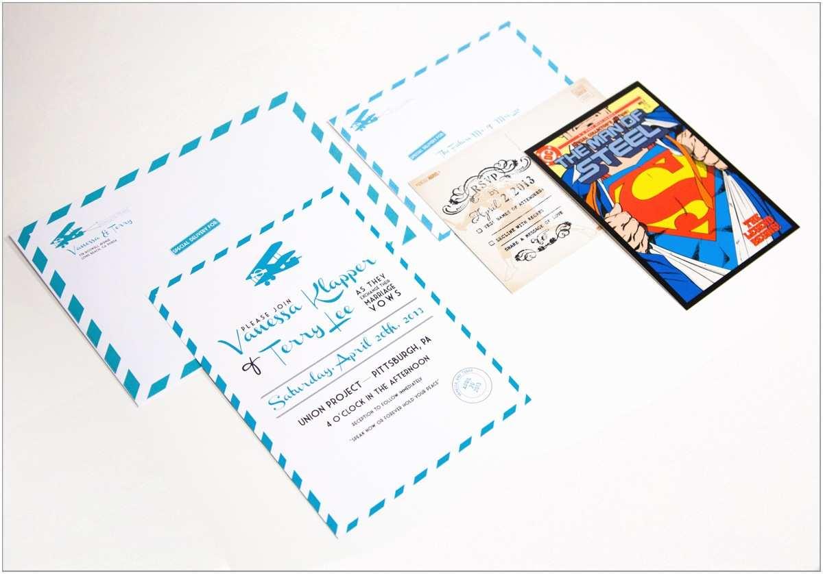Superhero Wedding Invitations Nichole Cropper Work Print
