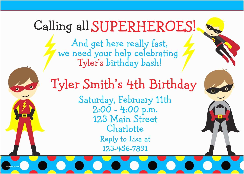 Superhero Wedding Invitations Superhero Birthday Invitation Wording