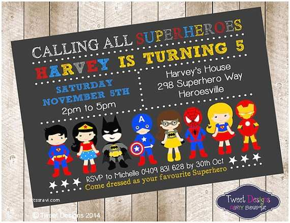 Superhero Wedding Invitations Superhero Boy Invitation Superhero Birthday by