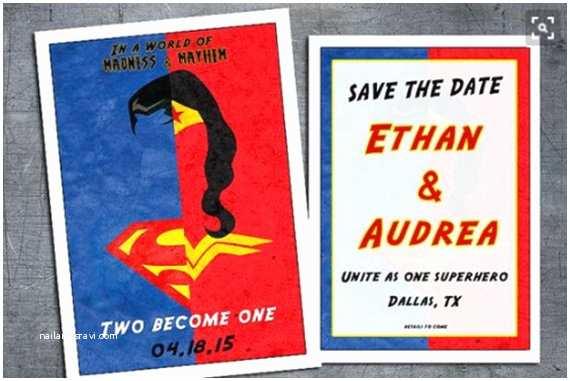Superhero Wedding Invitations Superhero Wedding Invitation Geek Wedding Invitation Geek