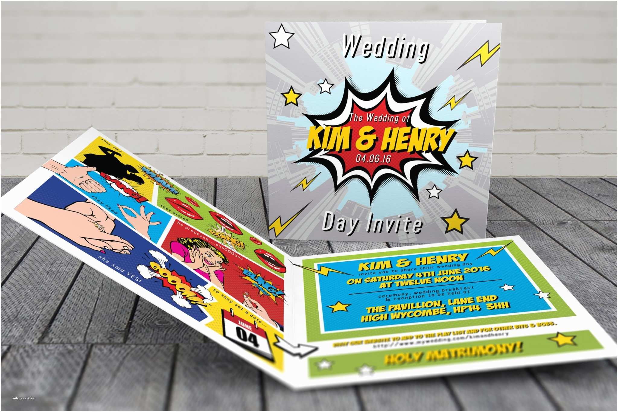 Superhero Wedding Invitations Superhero Wedding Invitations
