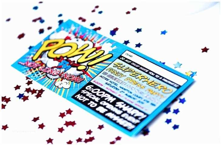 Superhero Wedding Invitations Superhero Wedding Invitations