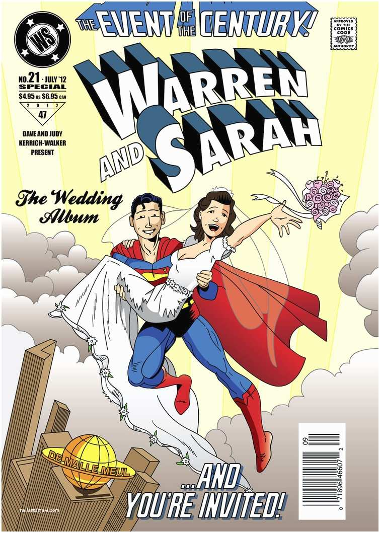 Superhero Wedding Invitations Superman Style Wedding Invite by Ianjasonnorris On Deviantart