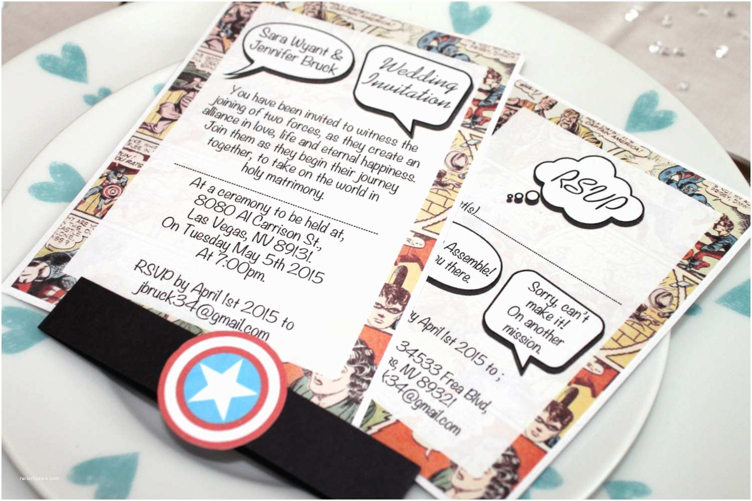 Superhero Wedding Invitations Vintage Marvel Dc Ic Book Wedding by Imethim asunday