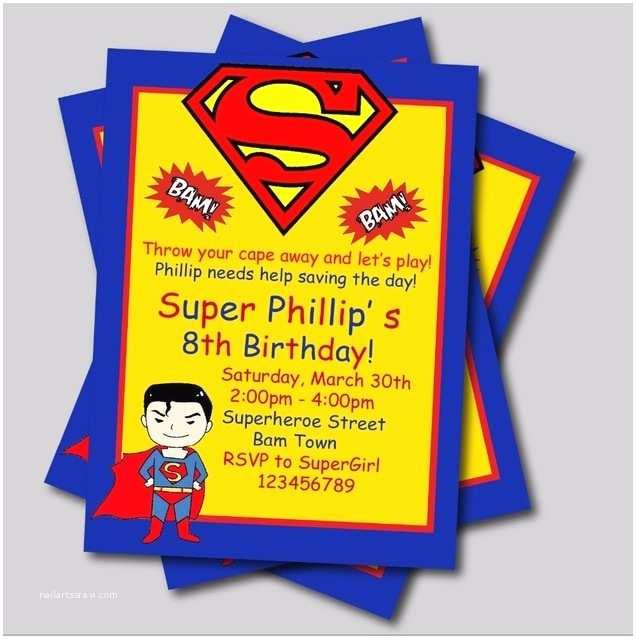 Superman Baby Shower Invitations 20 Pcs Lot Personalized Superman Birthday Invitations Kids