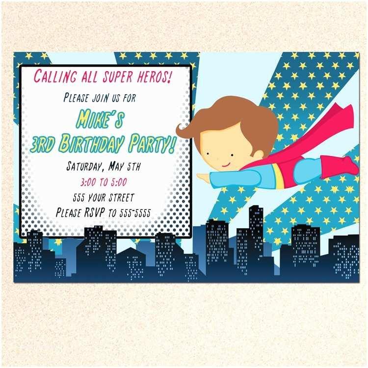 Superman Baby Shower Invitations Printable Super Hero Superman Birthday Baby Shower