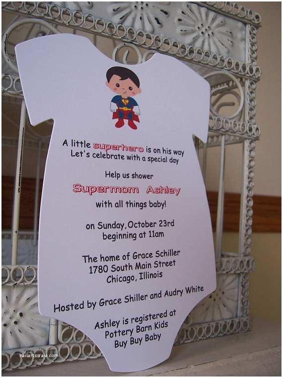 Superman Baby Shower Invitations Superhero Baby Shower Invitation Custom order for Marybeth