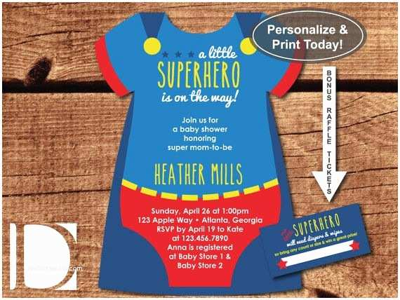 Superman Baby Shower Invitations Superhero Baby Shower Invitation Esie Invitation