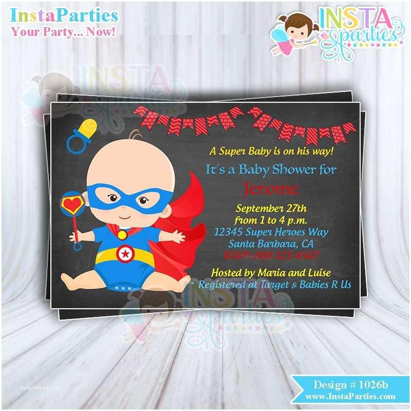 Superman Baby Shower Invitations Superhero Baby Shower Invitations Boy Superheroes