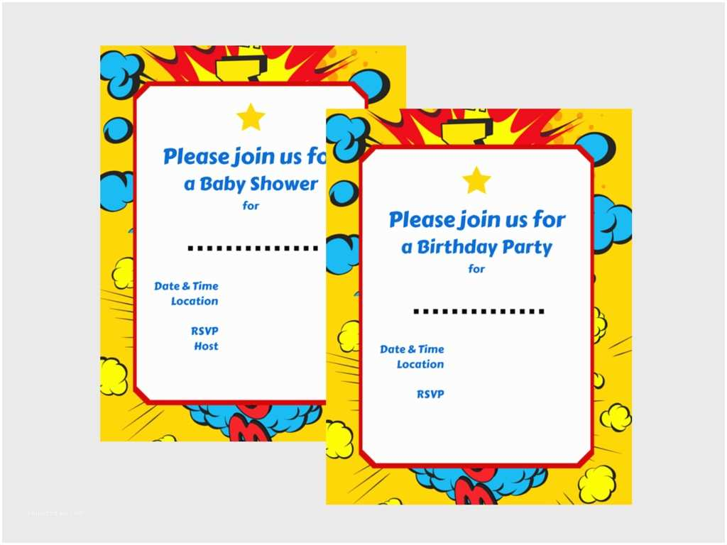 Superman Baby Shower Invitations Superhero Invitations Magical Printable