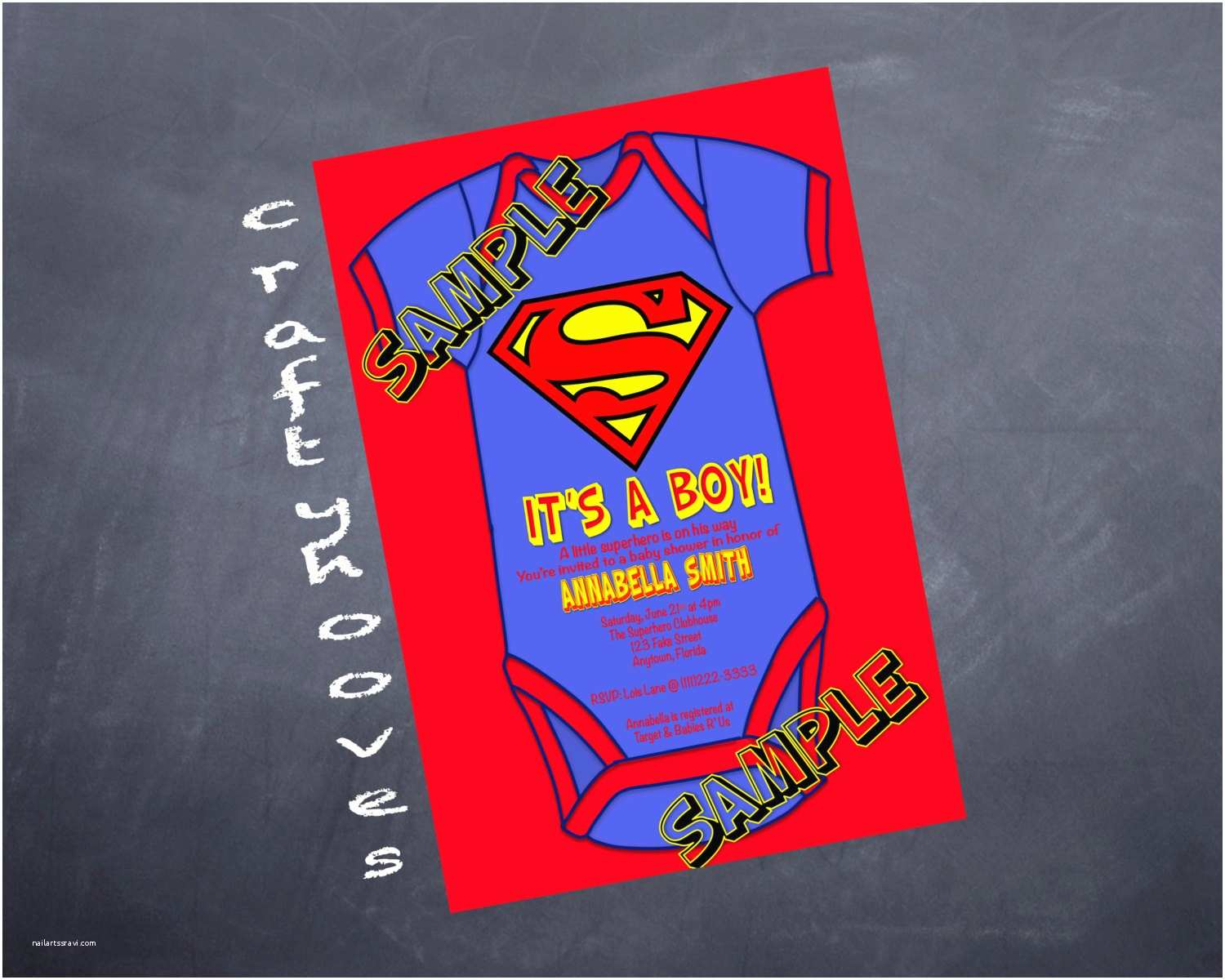 Superman Baby Shower Invitations Superhero Superman Baby Shower It S A Boy Party by