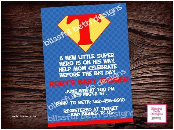 Superman Baby Shower Invitations Superman Baby Shower Superman Baby Shower Invitation