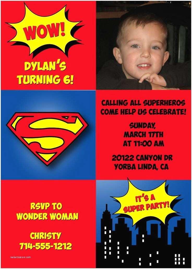 Superman Wedding Invitations 68 Best Superman Invitations Images On Pinterest