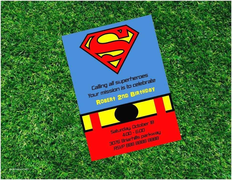 Superman Wedding Invitations Invitation Templates Superman Invitations Free Printable