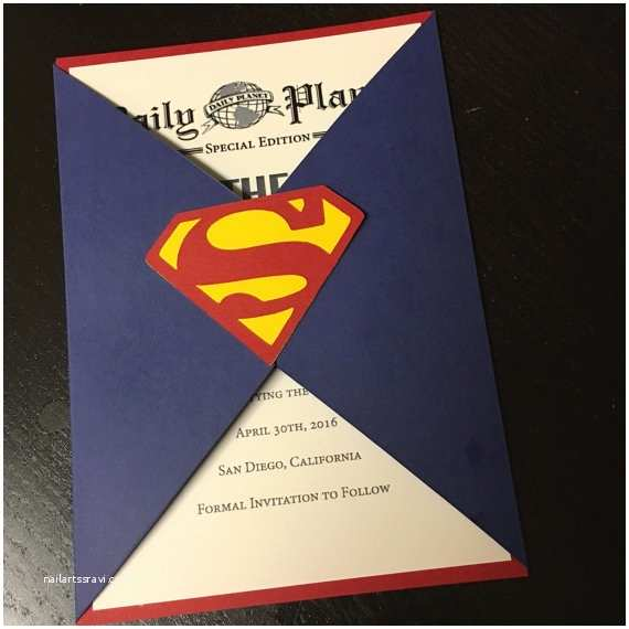 Superman Wedding Invitations Save the Date Superman Wedding Invitation Superman