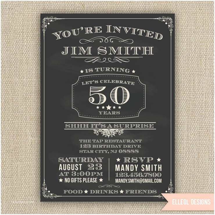 Surprise 50th Birthday Invitations 21st 30th 40th 50th 60th Surprise Birthday Party