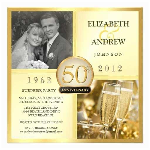 Surprise 50th Birthday Invitations 50th Golden Anniversary Surprise Party Invitations