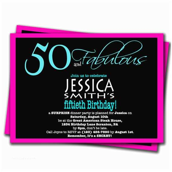 Surprise 50th Birthday Invitations Party