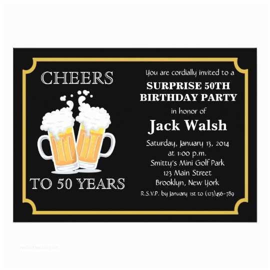 Surprise 50th Birthday Invitations Cheers Surprise 50th Birthday Party Invitations