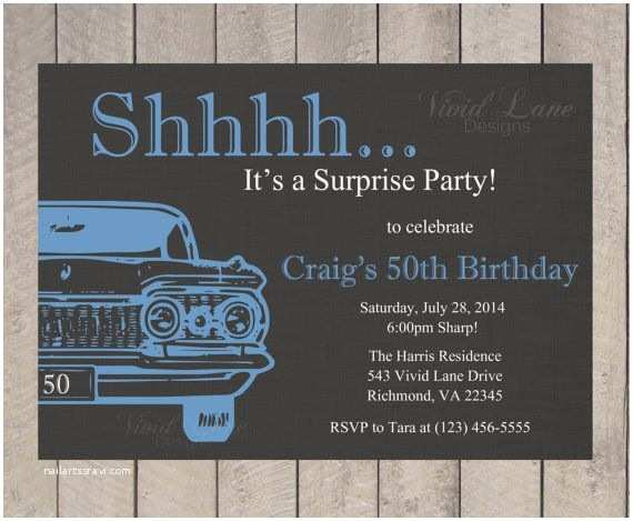 Surprise 50th Birthday Party Invitations 25 Best Ideas About Surprise Birthday Invitations On
