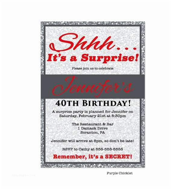 Surprise 50th Birthday Party Invitations 50th Surprise Party Invitations