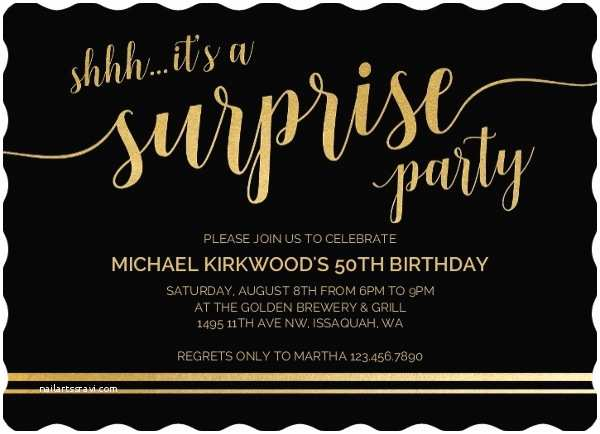 Surprise 50th Birthday Party Invitations Shhh Its A Surprise 50th Birthday Invitation