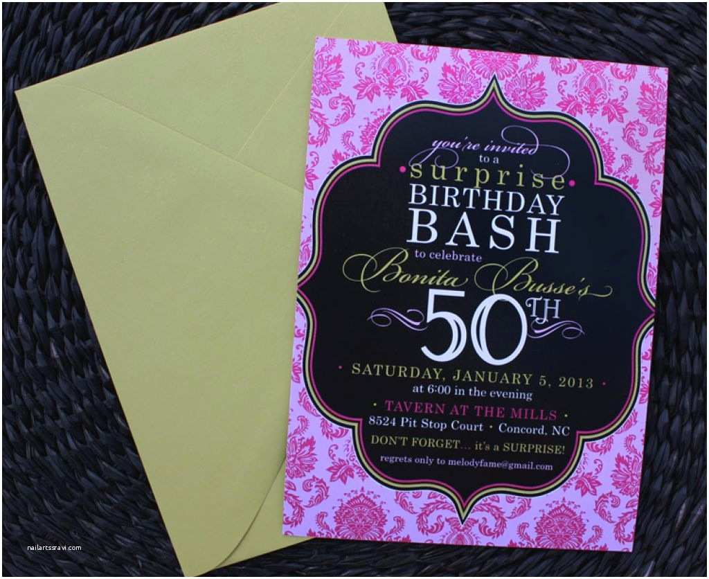 Surprise 50th Birthday Party Invitations Surprise 50th Birthday Invitations – Gangcraft