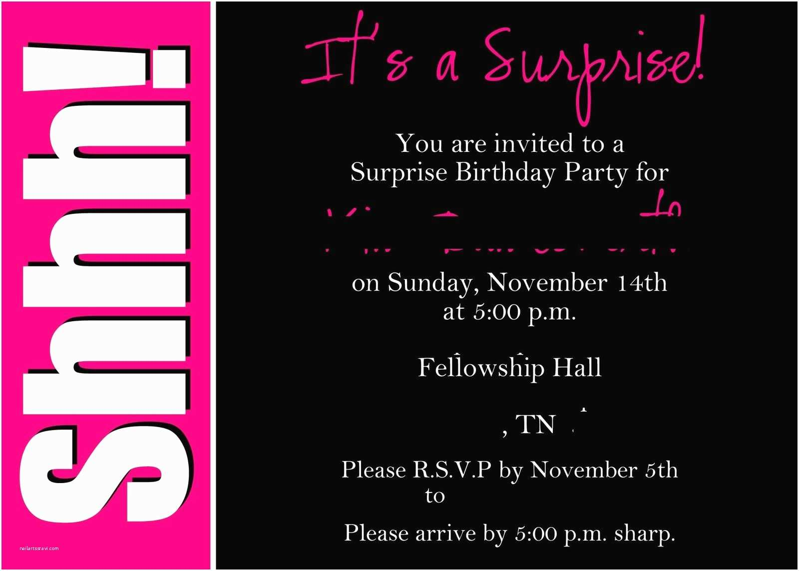 Surprise 50th Birthday Party Invitations Surprise 50th Birthday Invitations Templates