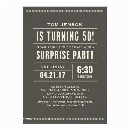 "Surprise 50th Birthday Party Invitations Surprise 50th Birthday Party Invitations 5"" X 7"